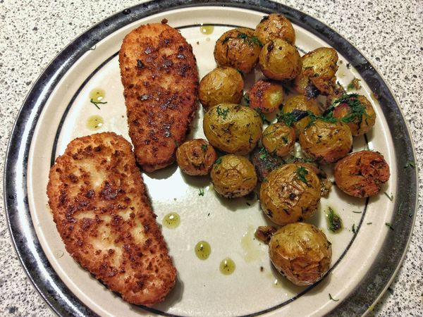 Food Freshness Plate Healthy Eating Ready-to-eat Serving Size Backed Potatoes Dill Yammy💞 Lovecooking