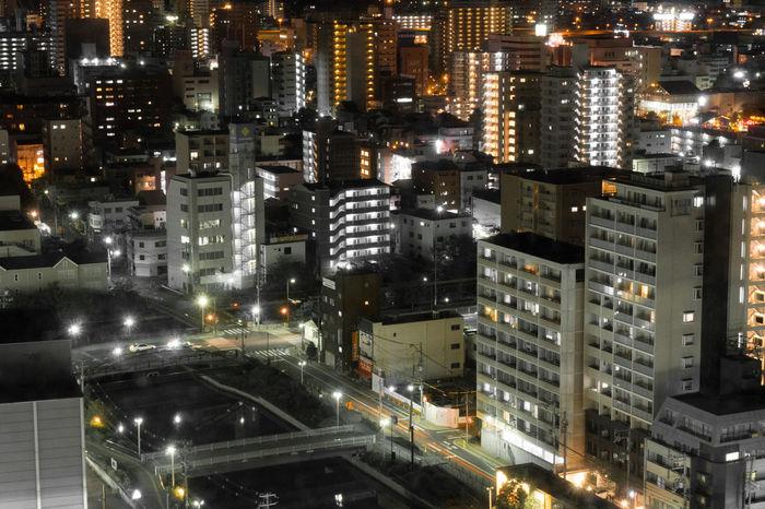 Evening in Osaka Architecture City Cityscape Japan Nightphotography OSAKA Osaka,Japan Skyline Architecture Building Exterior Buildings City Cityscape Modern Night No People Sakai