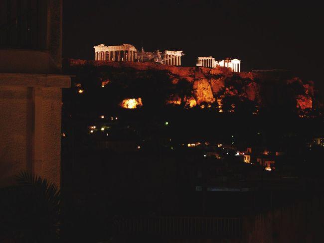 Skyline Parthenon Acropolis Greece 2004