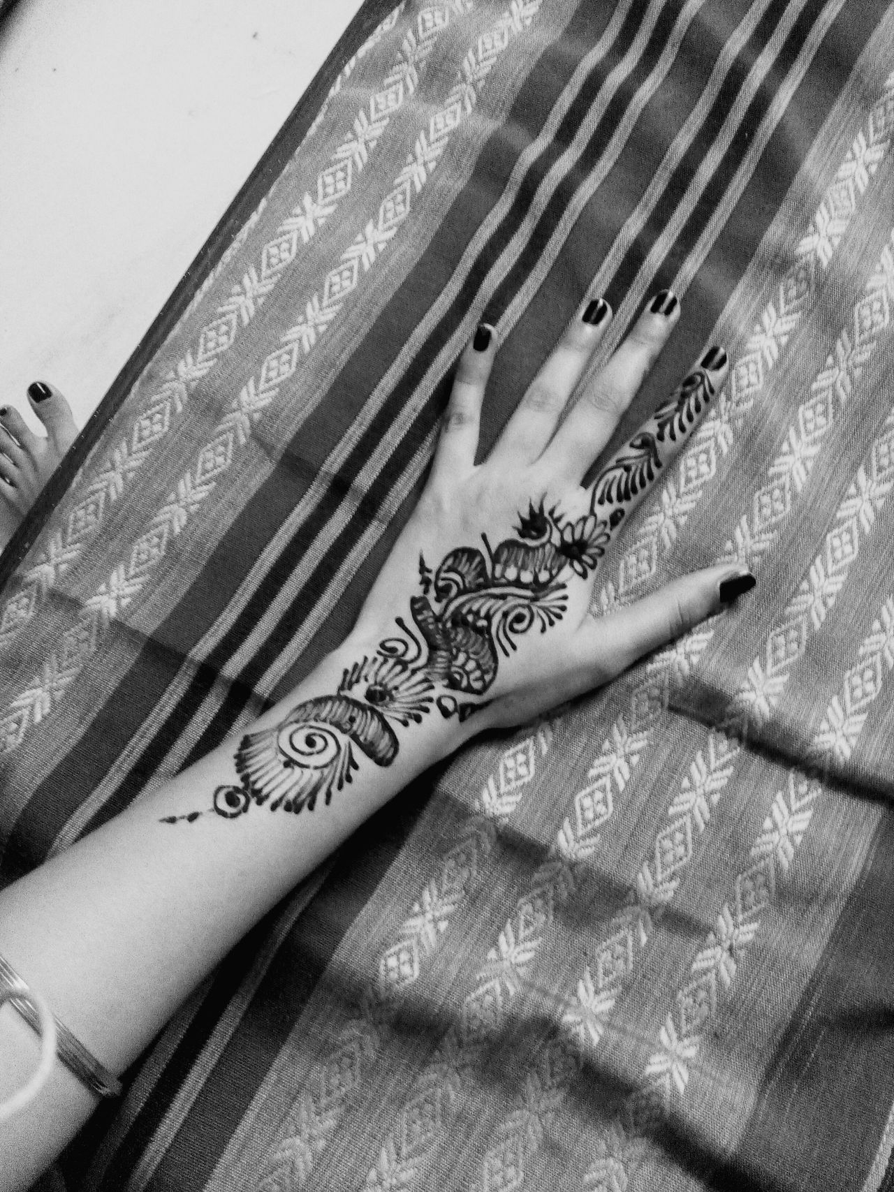 Blackandwhite Mehendi Art Henna Tattoo Indian Indian Culture  Showcase March Cultural Heritage