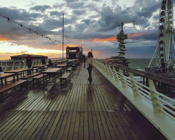 Sunset Cloud - Sky Sea Sky Outdoors Water Scheveningen  S8+ Photography DenHaag Women Young Women The Week On EyeEm