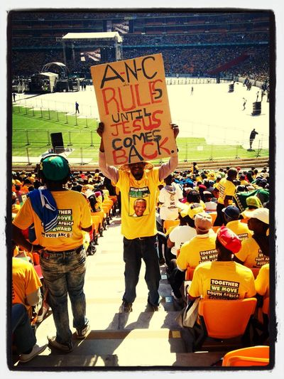 Jacob Zuma rally in Soweto Hello World Photojournalism Taking Photos Southafrica