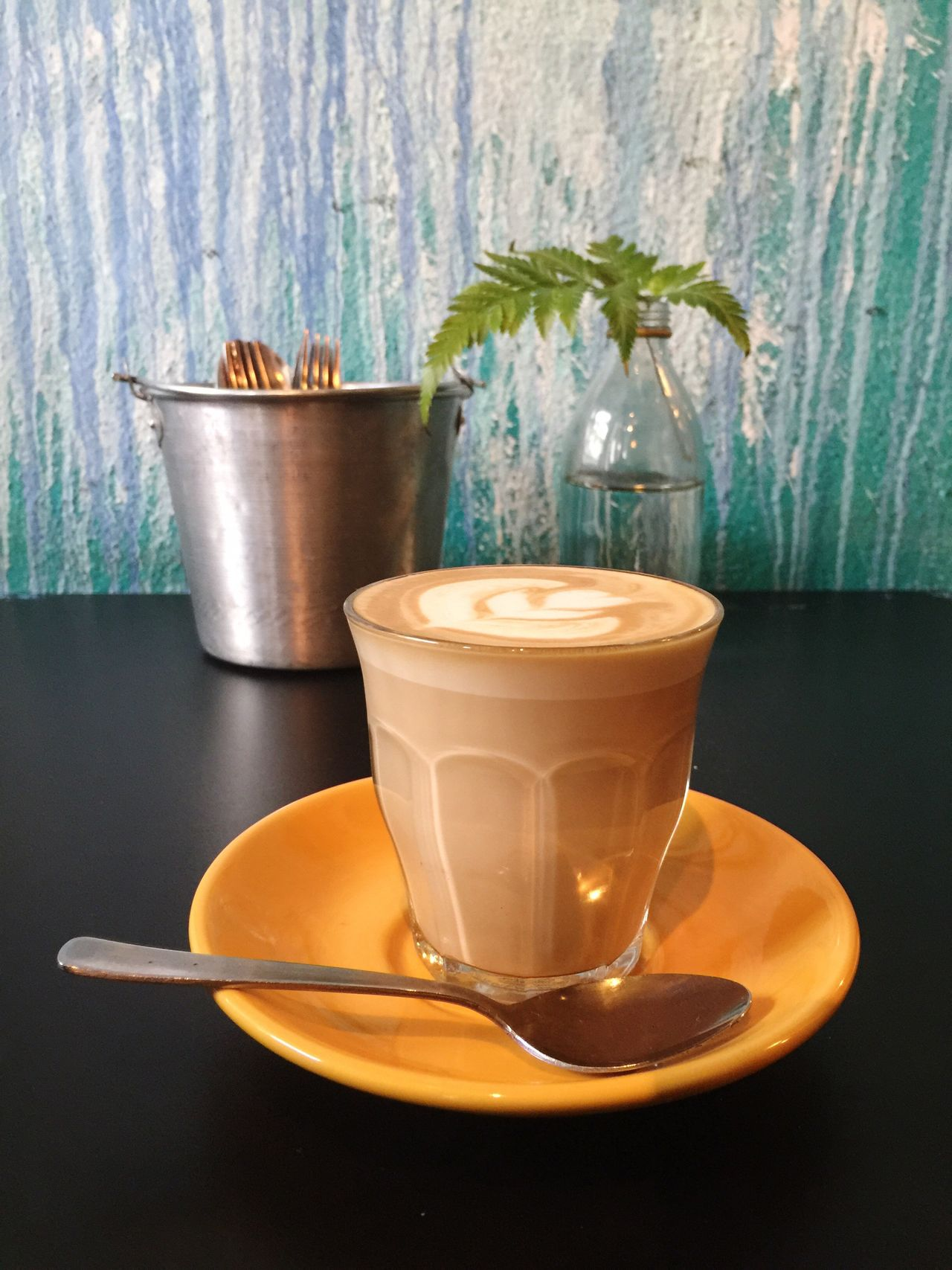 Latte Coffee Latte Latte Art Food And Drink Coffee Cup Table Close-up Teatime Gathering Cafe Hot Latte Heart Green Wall Drink Drinking Glass Relaxing Moments