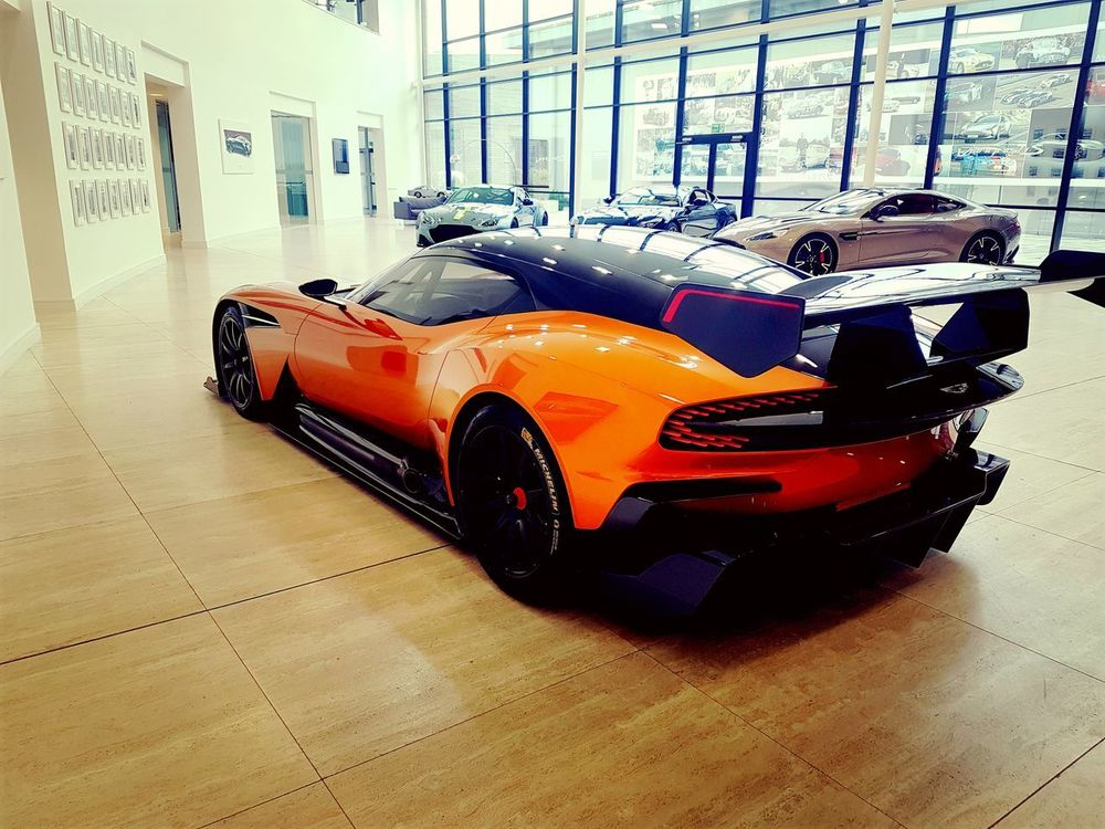 Car Indoors  No People Day Automotive Photography Vulcan Aston Martin Orange Color Travel