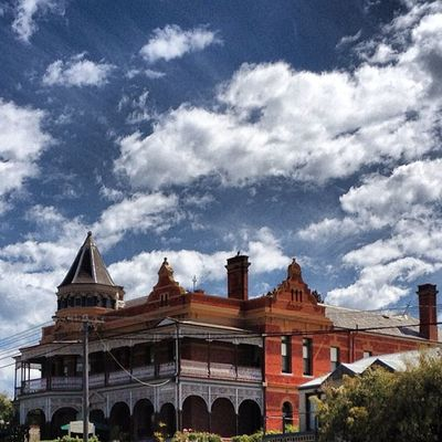 The old #ozone #hotel in #queenscliffe on the #bellarine Hotel Cloudporn Bricks Brickporn Bellarine Queenscliffe Ozone Spiresidesire