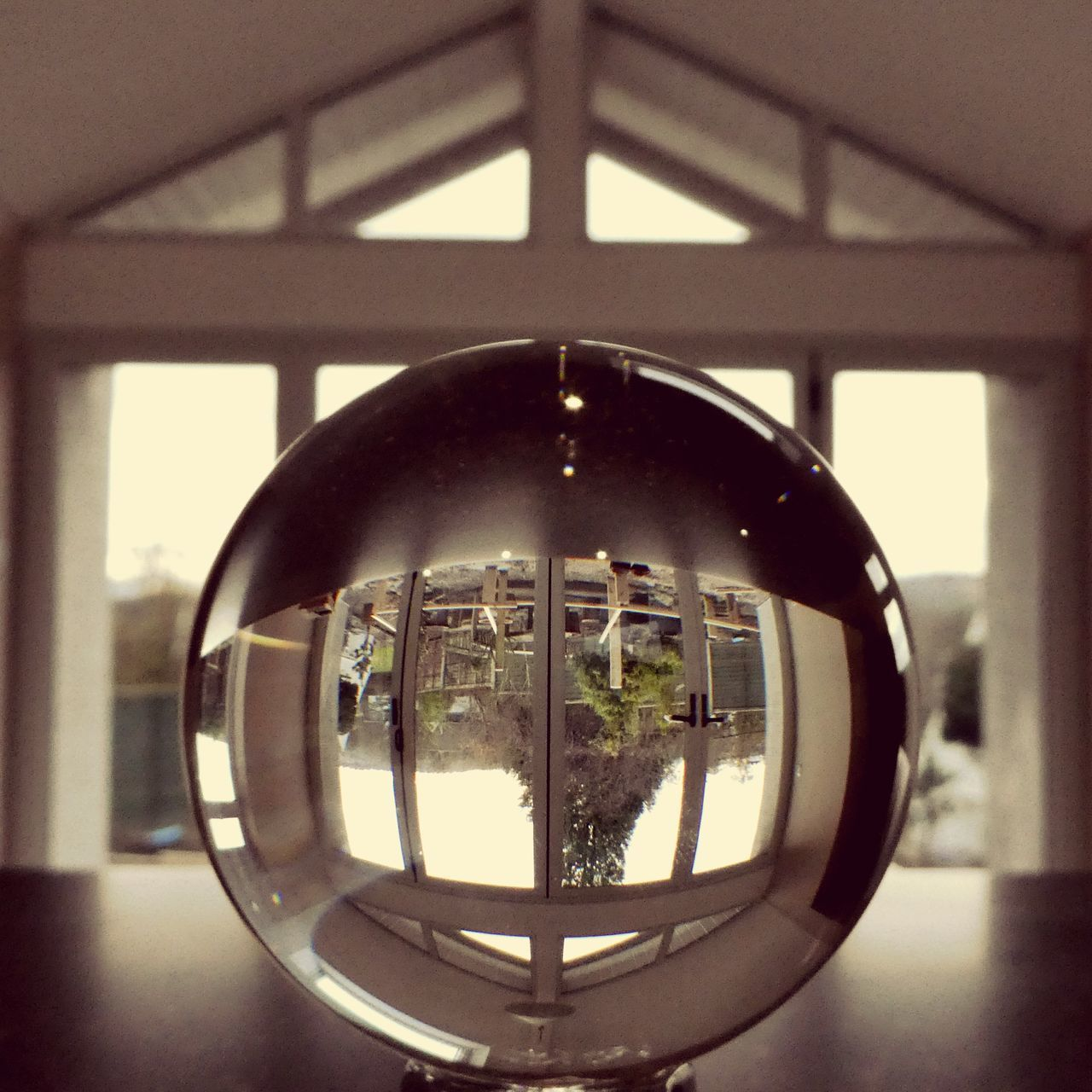 Things at home were a little upside down... Window Geometric Shape Reflection Glass Objects  Glass Reflection Close-up Built Structure Architecture Indoors  Glass Ball Indoors  Me In Reflection Glass Sphere View Through Altered Perceptions Upside Down Indoors  At Home Sweet Home The Architect - 2017 EyeEm Awards