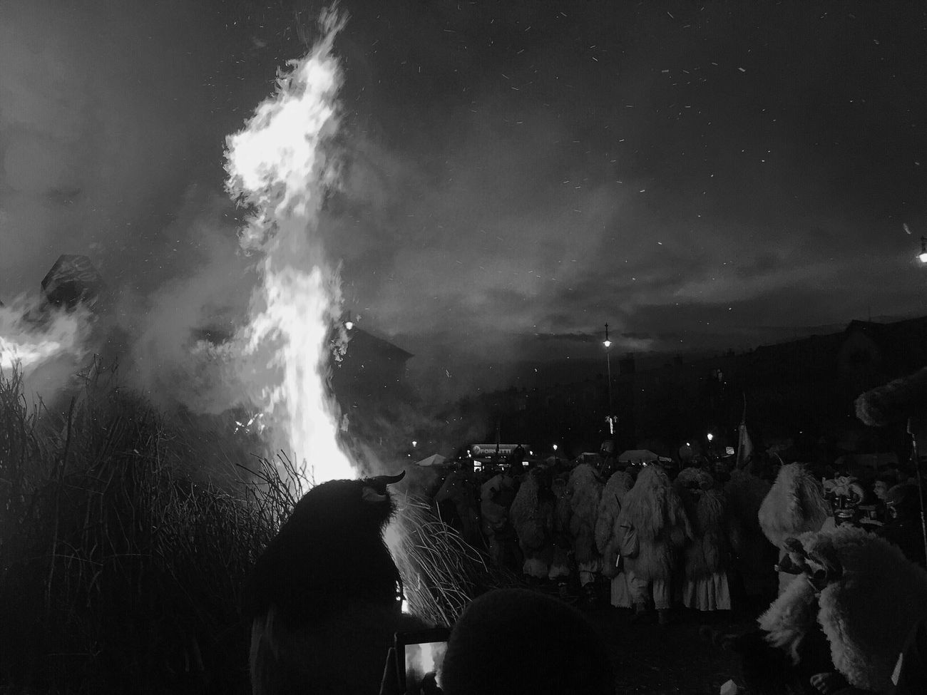 Busójárás 👹👺🎉 Hungary Busó Festival VSCO Vscocam Black White Blackandwhite Winter Funeral Devil 2016 IPhoneography IPhone Place Europe Tradition Traditional