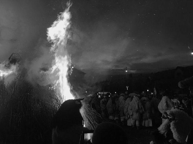 Busójárás 👹👺🎉 Hungary Busó Festival VSCO Vscocam Black White Blackandwhite Winter Funeral Devil 2016 IPhoneography IPhone Place Europe Tradition Traditional