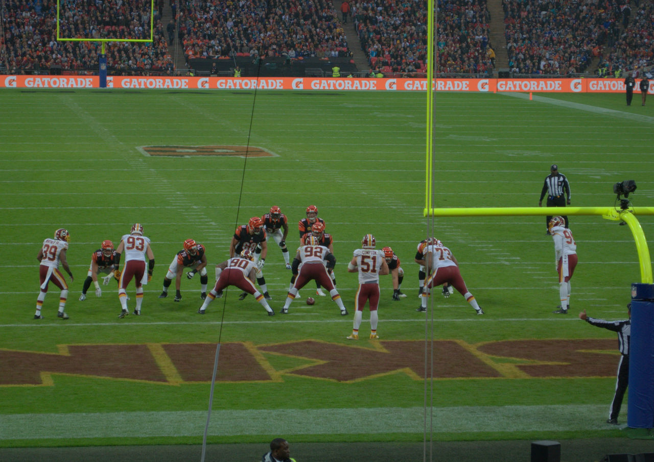 Goalline American Football Anticipation Bengals Cincinnati Goalline NFL Redskin Redskins Sport Sports Stadium Washington Washington, D. C. Wembley Stadium