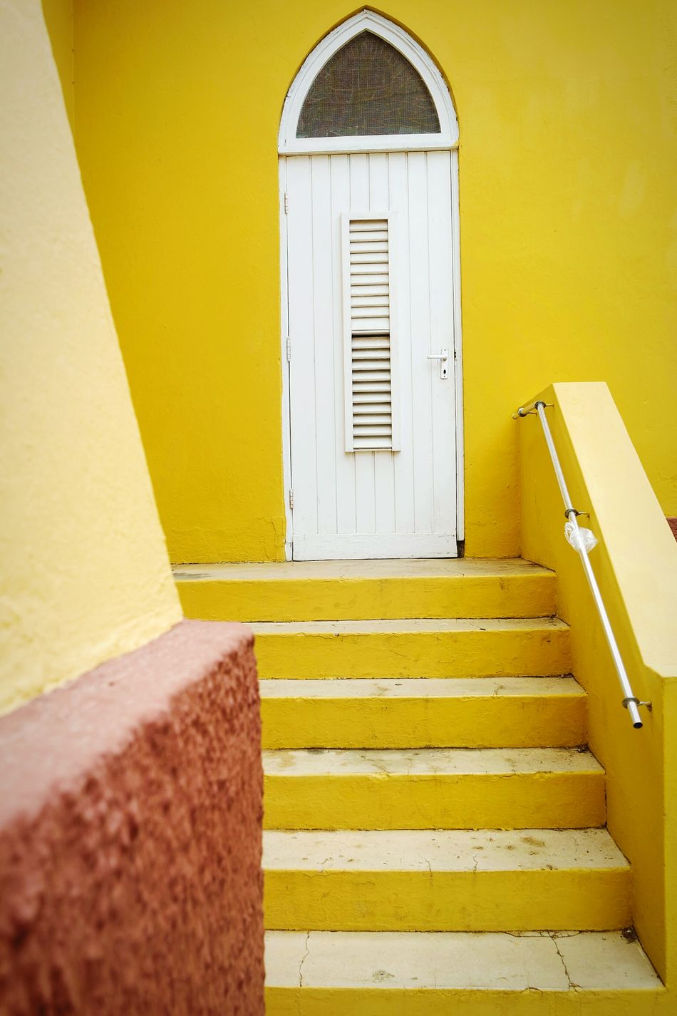Yellow Yellow Steps Staircase Steps And Staircases Architecture No People Built Structure Day Indoors  Colors Fresh 3 Open Edit EyeEm Best Shots Eye4photography  Travel Destinations Outdoors Architecture Multi Colored Doors Lover Doorporn Building Exterior Door Architecture_collection