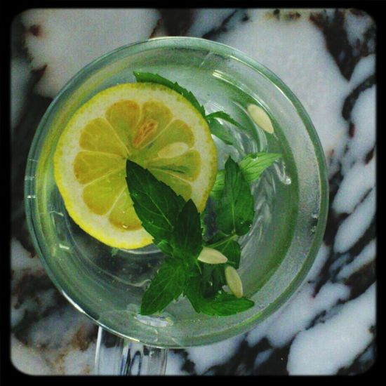 Fresh Water Mint Lemon Water Cucumber Water