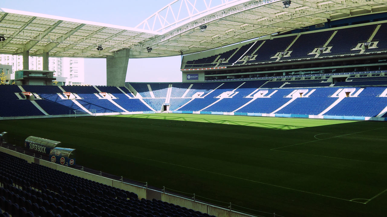 Close Up Day Estadio Do Dragao Fc Porto High Angle View No People Outdoors Porto Portugal Sport Stadium Vamos