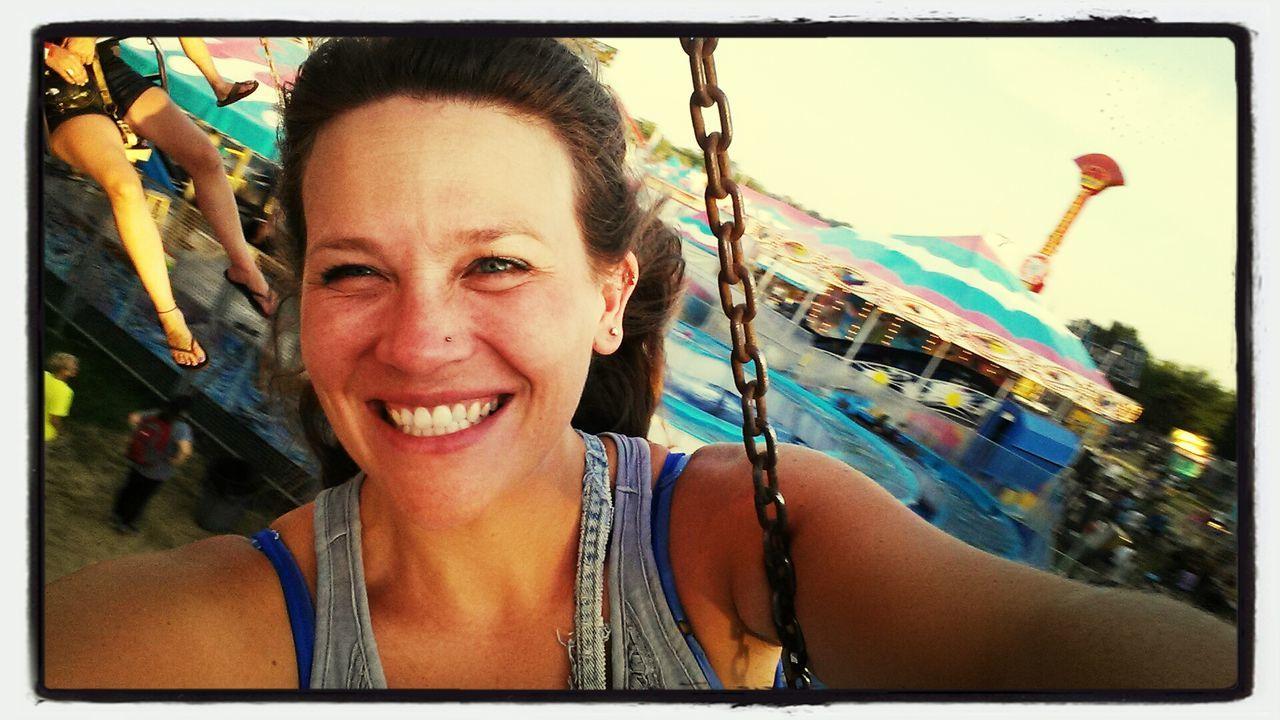 swinging at the fair!