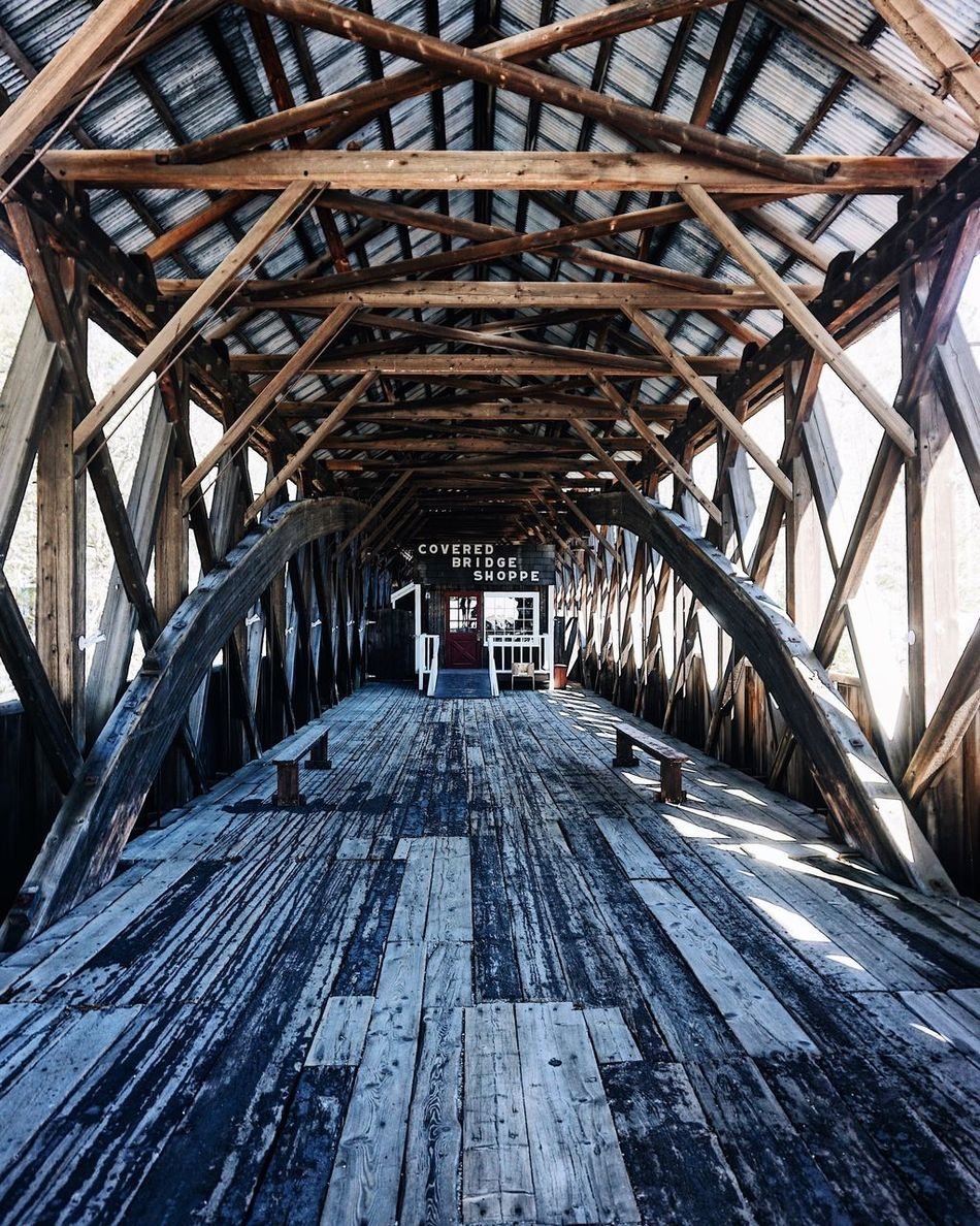 Wood - Material Bridge - Man Made Structure Connection Day Architecture Outdoors Underneath No People