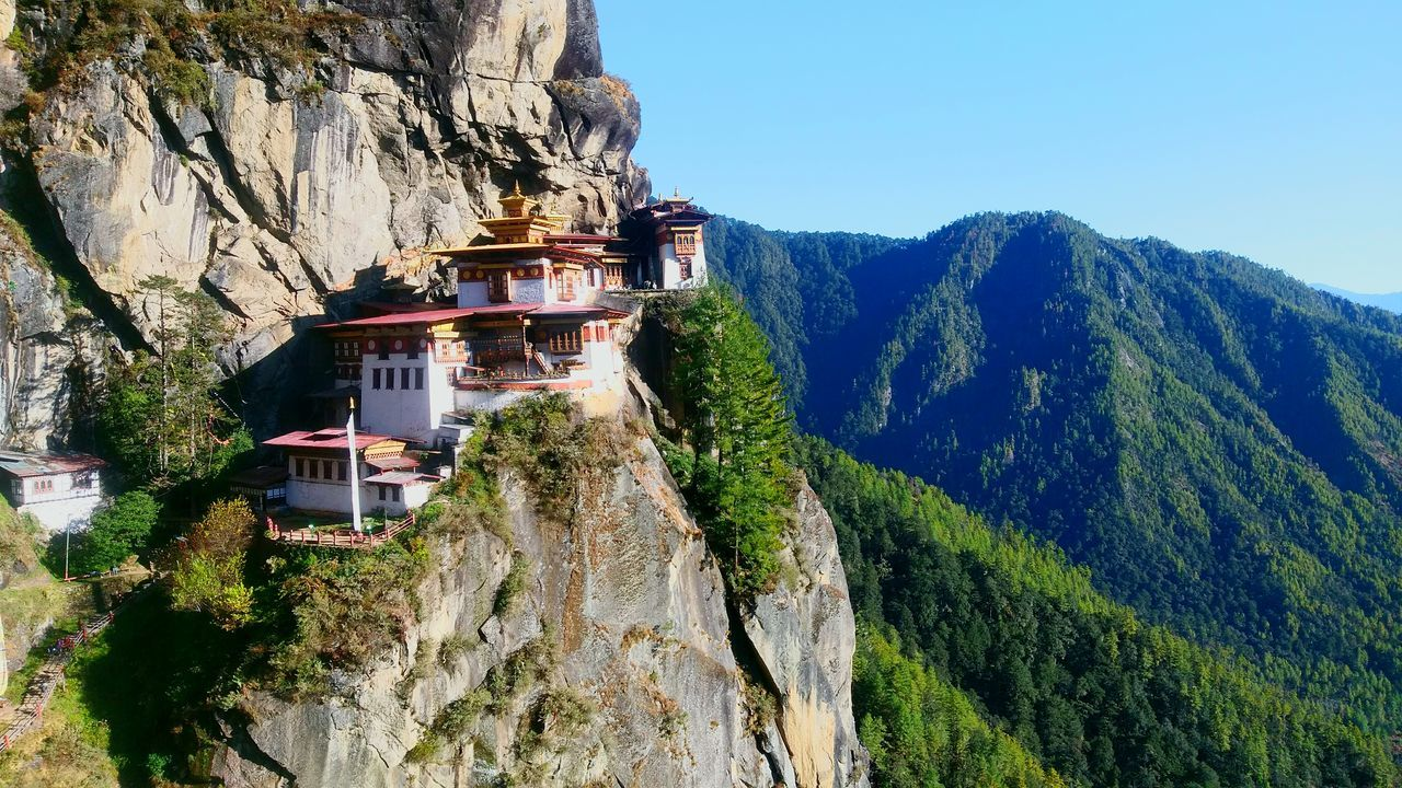 Tiger's Nest Monestry Bhutan Diaries Beauty In Nature Mountain Blue Sky Peaceful The Great Outdoors - 2017 EyeEm Awards Neighborhood Map Been There. Done That.