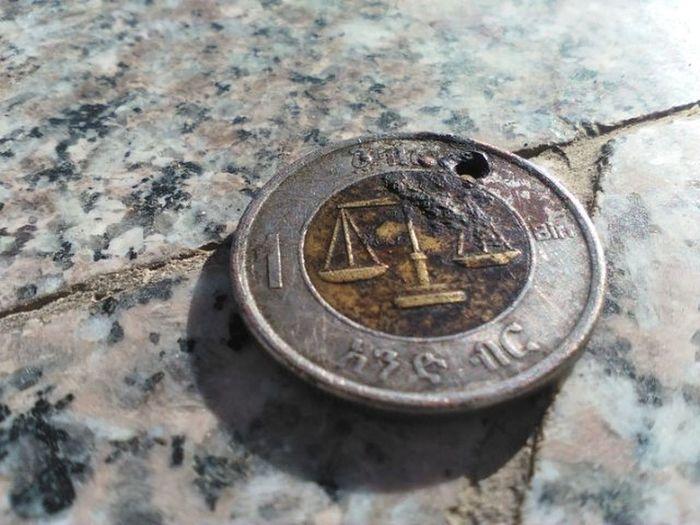 My lil bro gave me this coin;, thanks man!, Habesha Ethiopian Ethiopia Eastafrican Photographer Amateurphotographer  Photooftheday