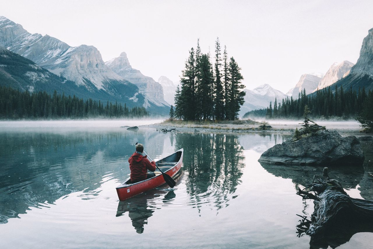 Beautiful stock photos of travel,  Beauty In Nature,  Calm,  Canoe,  Clear Sky