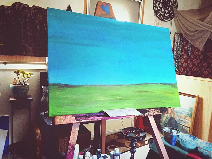 Work Before Work Doghairstudio Commission Work Gypsylife Friends ❤ Cover My World In Paint Not Finished Yet...