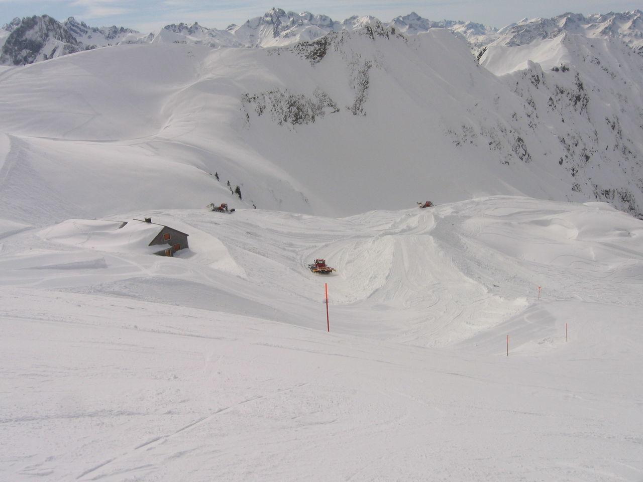 Blue Day Landscape Mountain Nature Oberstdorf & Umgebung Outdoors Pistenraupe Ski Ski Track Snow Snowboard White Winter
