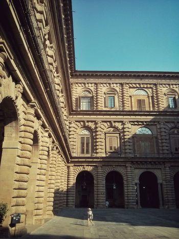 Pitti Museum Florence Morning Light Architecture Art