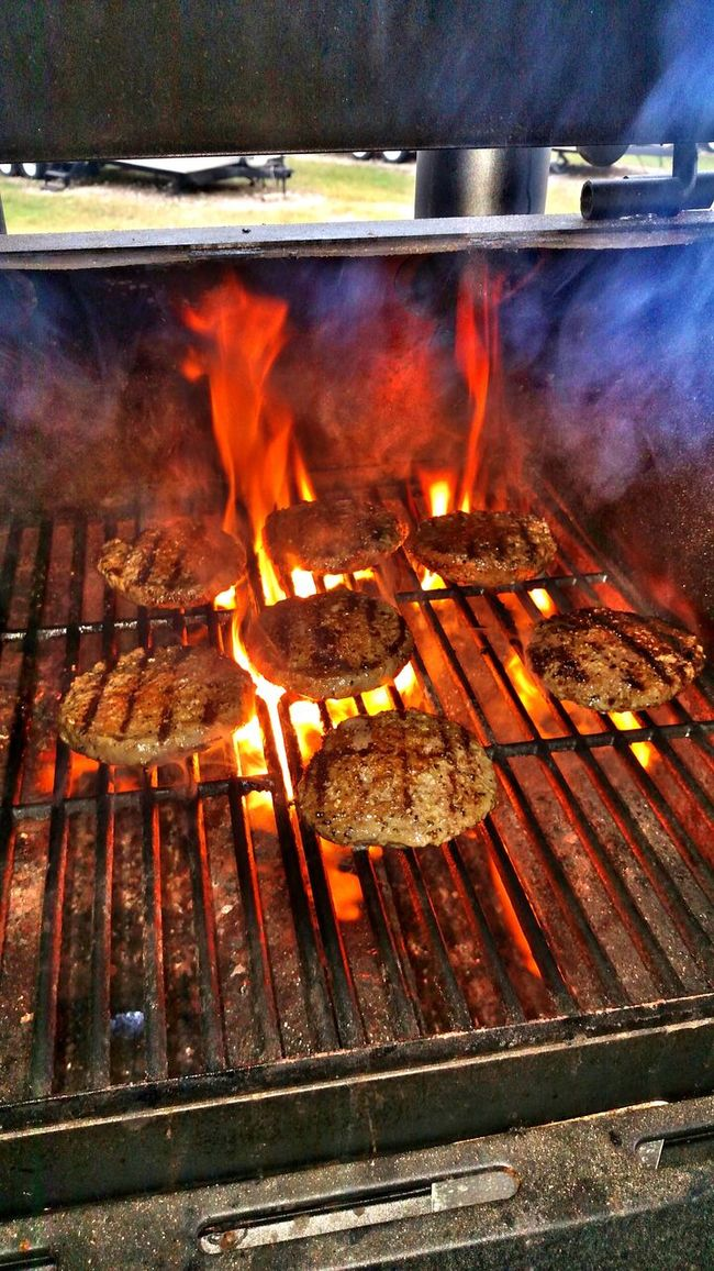 You know your hungry... Check This Out Christian Kustomz Flame Broiled Gas Grilling Hot Oklahoma Joe's Hamburger 2016 Country Life I'd Rather Laugh With My Friends In Person Than Lol With Them Online