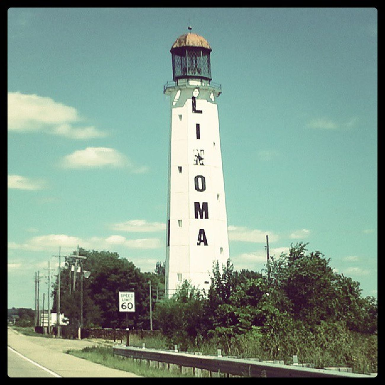 LINOMA LINOMA Lincoln Omaha Lake lighthouse signage SIGN typography lettergetter lettering halfway