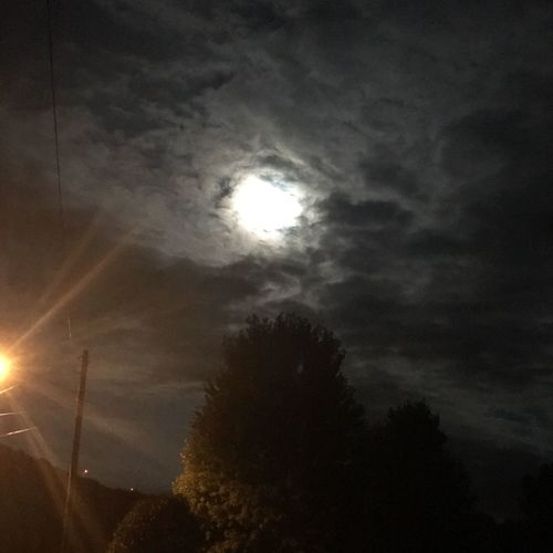 Eerie moon The Great Outdoors - 2017 EyeEm Awards Outdoors Moon Shots Beauty In Nature Sky Brandonville, PA