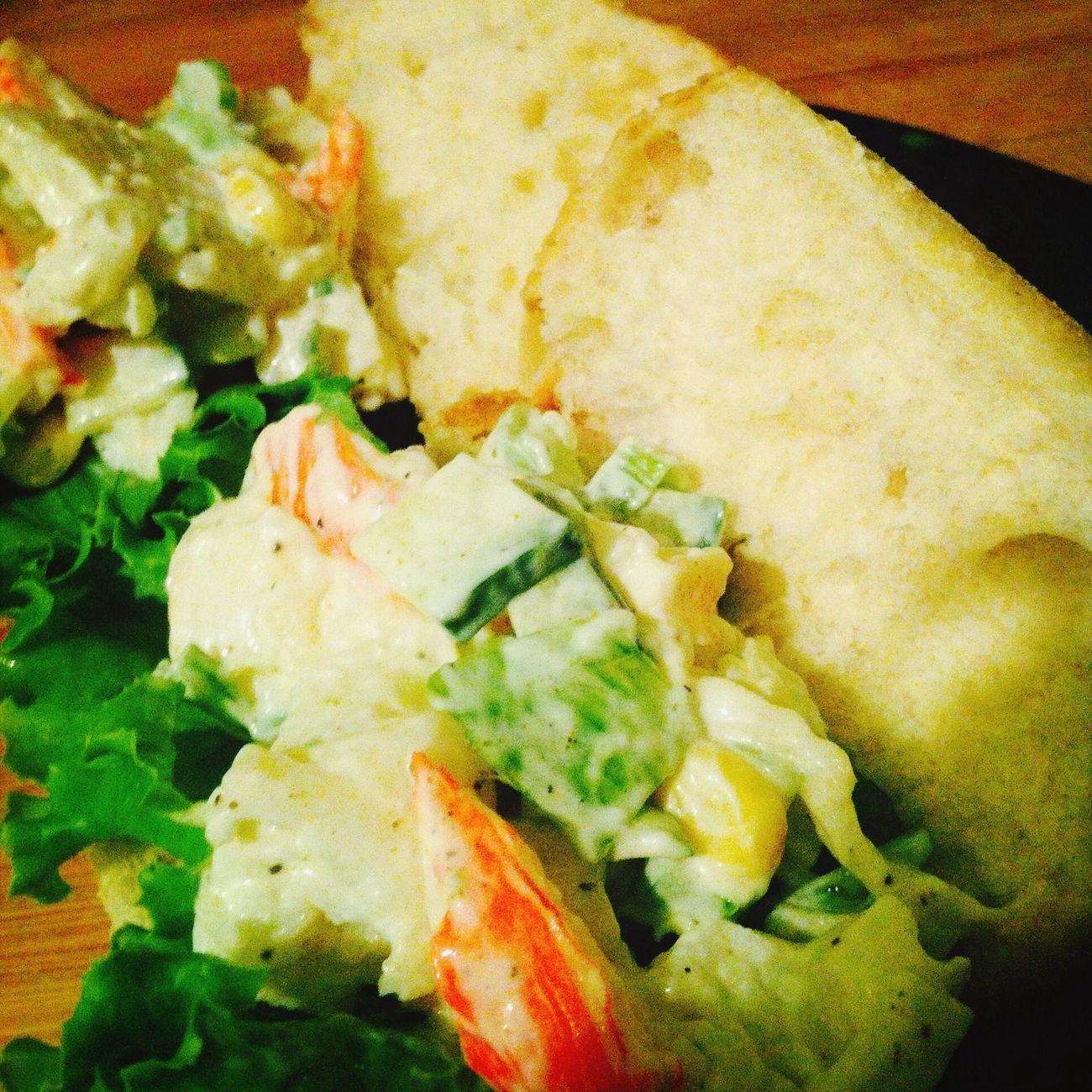 Surimi salad in a ciabatta roll Sandwiches Ciabatta Surimi