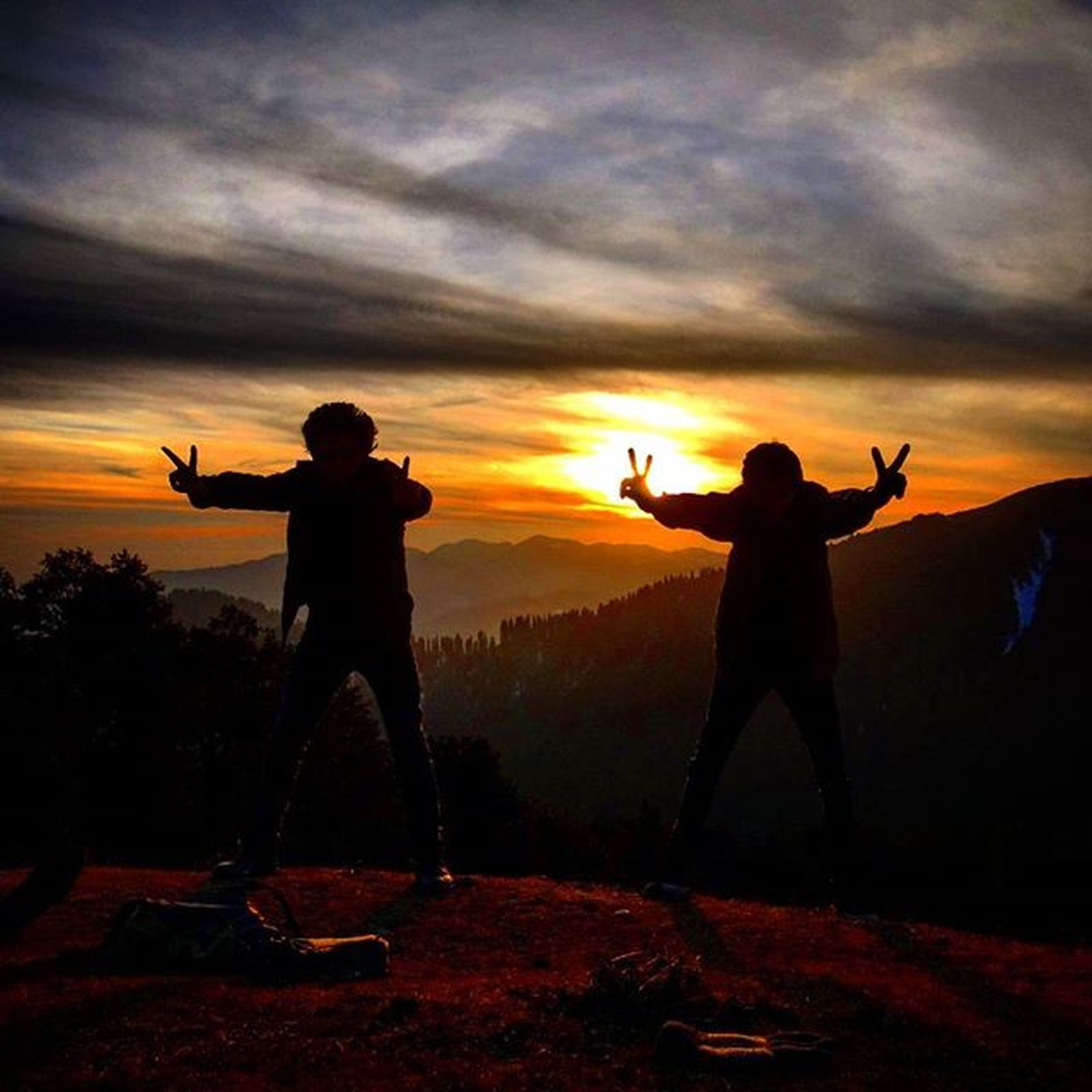 Sunset Athighplaces Enjoylife CrazyWe Naturelovers Freedomlovers Happymoments NewYearClick Happynewyear Brothers ★ Stayhigh Staypositive Staystrong ★