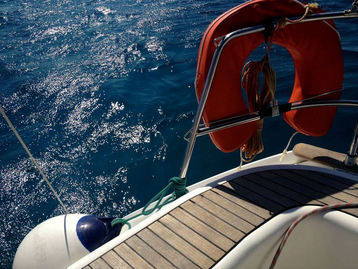 Water Summer Sea Nautical Vessel Vacations Sailing Transportation Day Outdoors No People Yacht Nature Boat Deck Sailing Ship Yachting Close-up UnderSea Adriaticsea Waves Bouy Float Sommergefühle 100 Days Of Summer EyeEm Selects Breathing Space