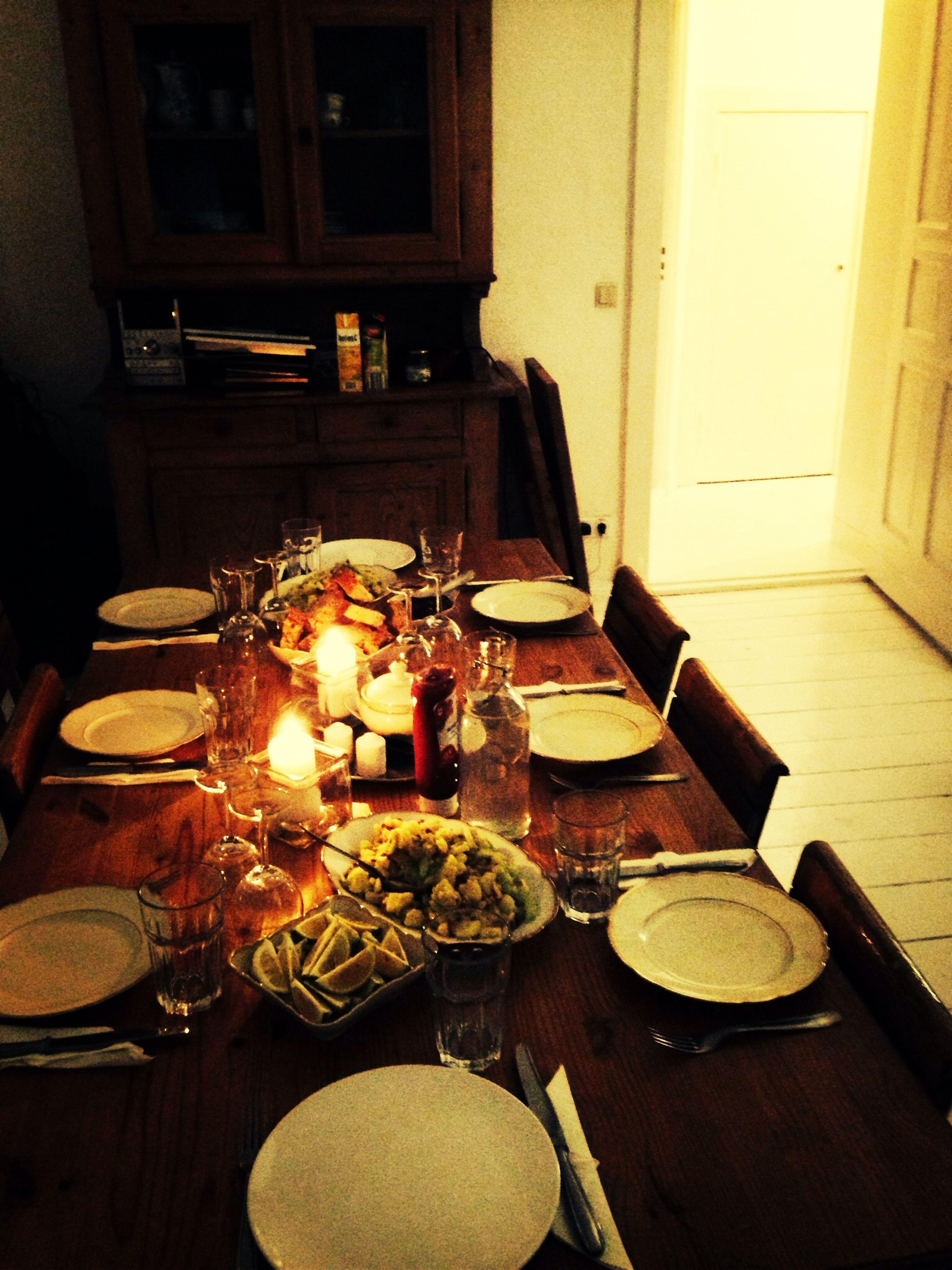 Dinner with friends. Schnitzelabend