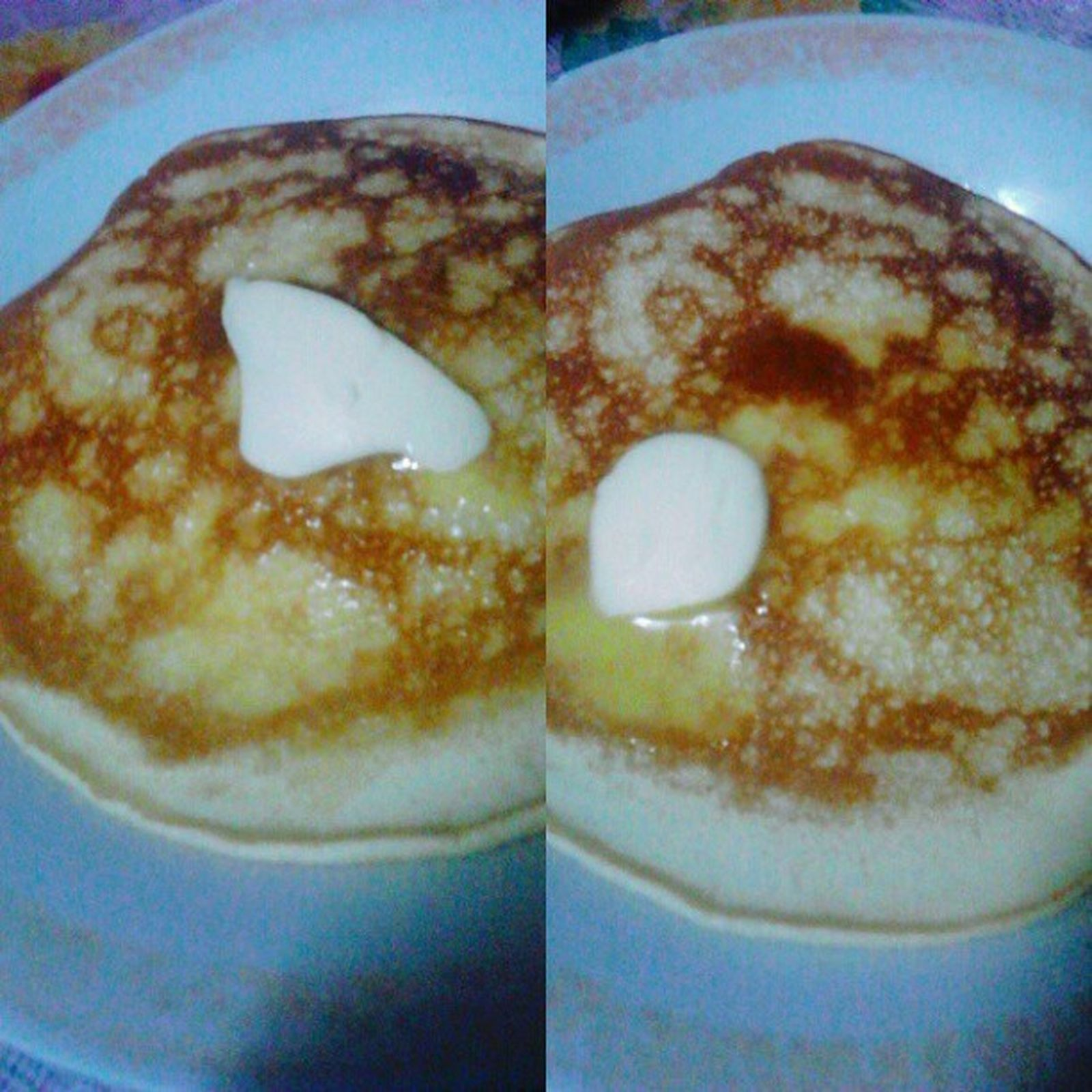 My not so good morning mood. But still i have a reward, i have this butter-melting pancake cooked by loving mom. Yourethebestmom ! Yummy