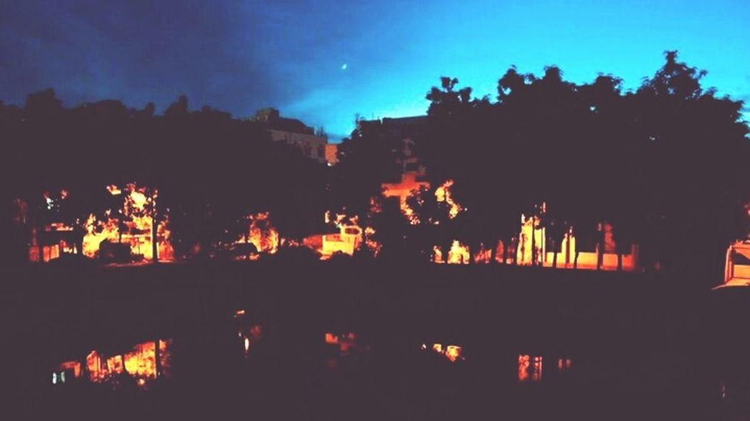 Lighthouseview Pond Night Lights Night Photography Dark Blue Sky Evening @Ashish Photography Freelance Life