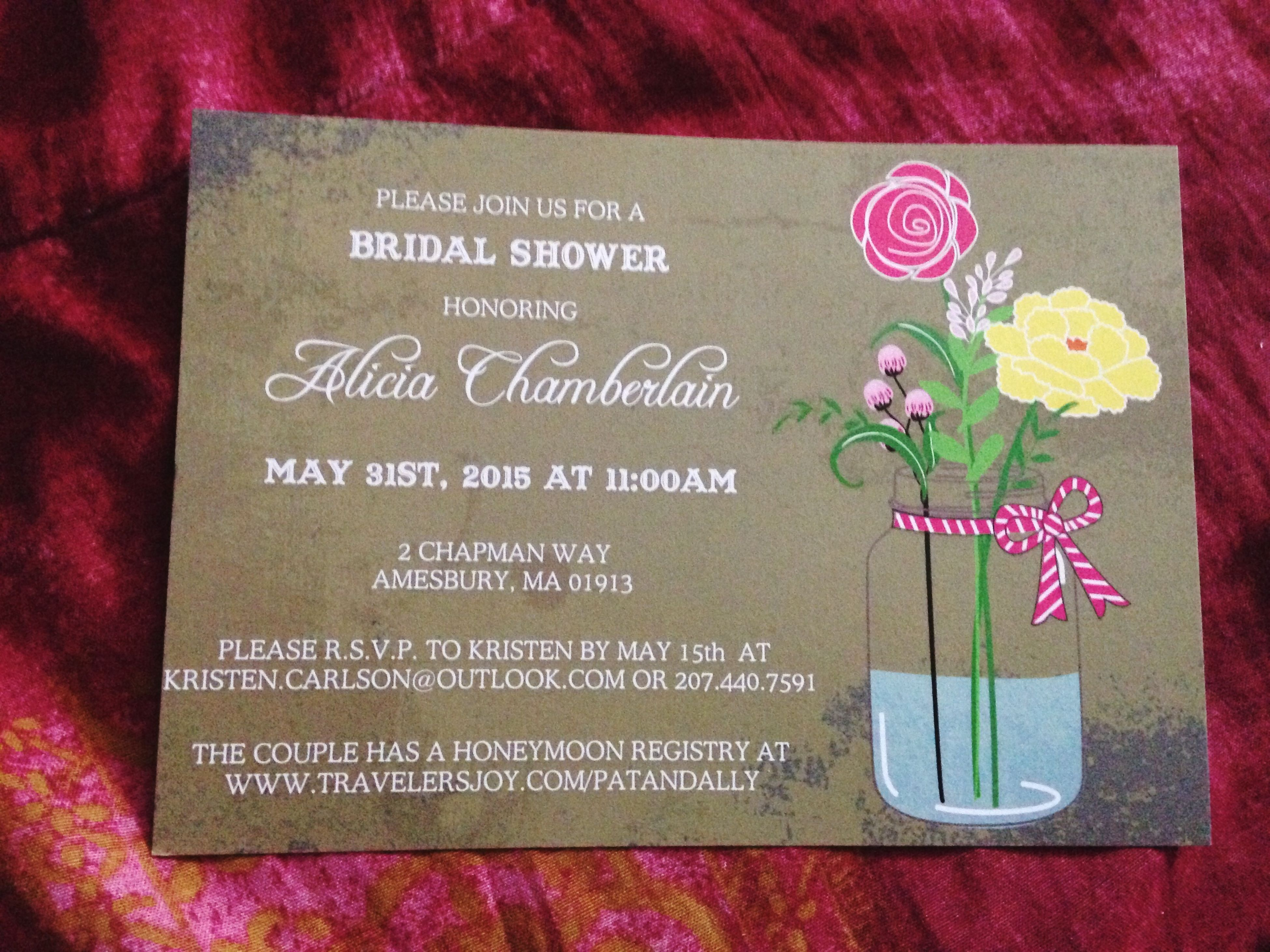 Bridal Shower Invite Baby Cousins  Getting  Married