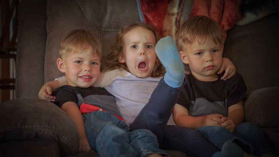 Cousins ❤ Cousins  Childhood Boys Looking At Camera Portrait Child Sofa Happiness Kids Fun Family Love Cute