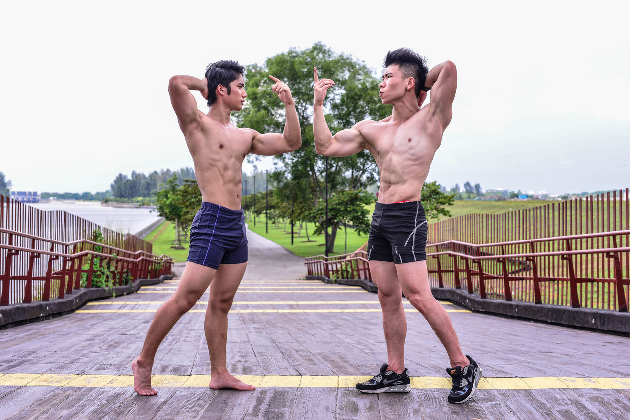 Its all about the iron. ASIA Asthetic Fitness Iron Lifestyles M Model Pose Shredded Shredded Cheese Singapore Young Adult