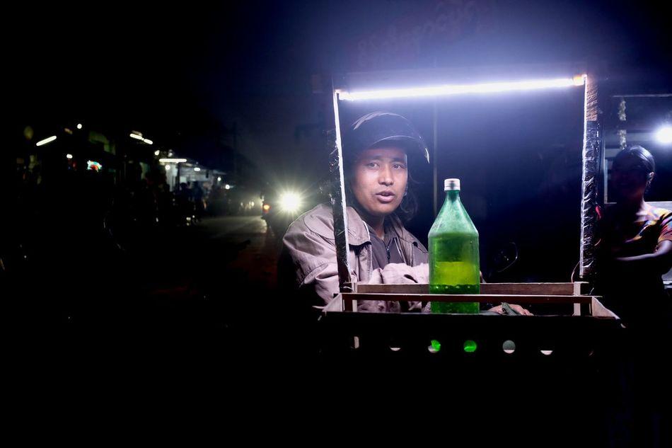 Taunggyi by night. ASIA Burma Day Eveing Flouroscent Glowing Illuminated Myanmar Night Taunggyi Taunggyi Hot Balloons Festival Travel