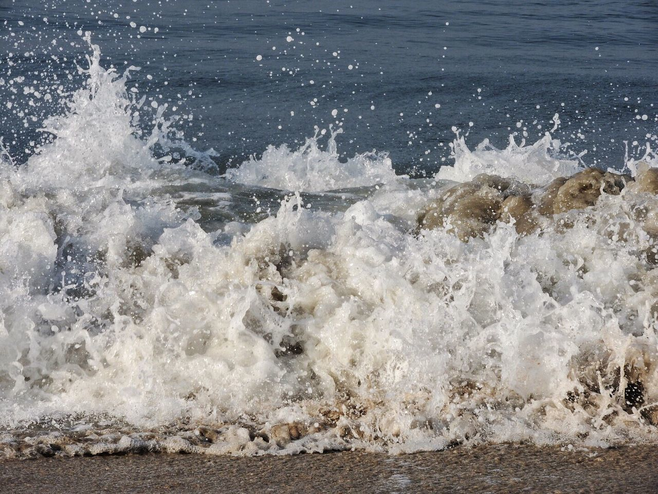 Crashing waves today. There is a cyclone on the other side of India, so very windy. Sea Water Spray Spume Splashing Waves Day