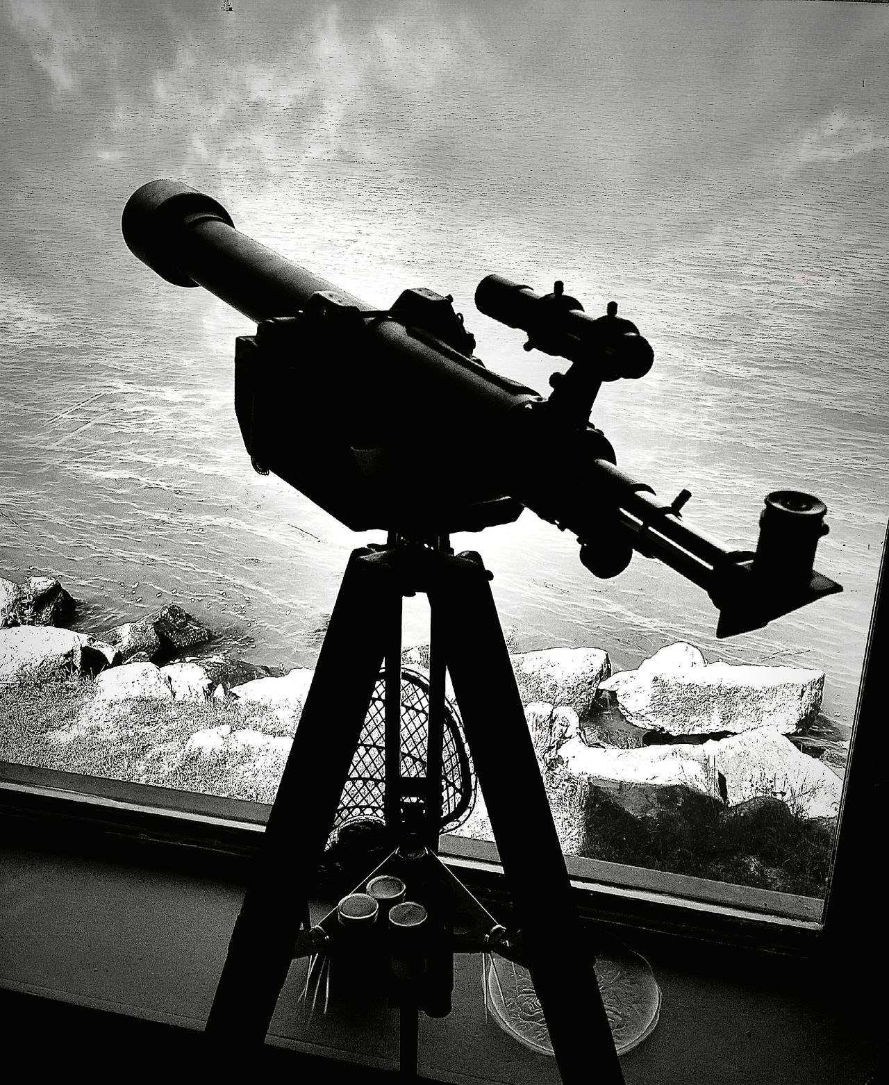 Hello World Enjoying The View Taking Photos Amherstburg Black & White Telescope Roomwithaview Getting Inspired Amateur Photography