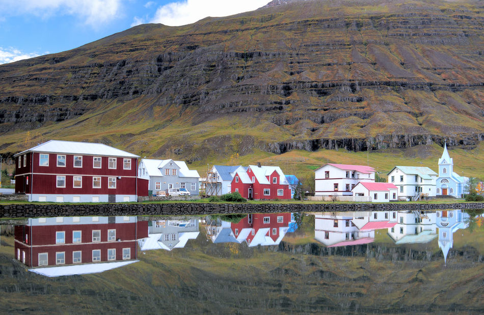 Architecture Beauty In Nature Built Structure Day Exterior Hill Iceland Iceland_collection Idyllic Landscape Mountain Nature No People Non-urban Scene Outdoors Rural Scene Seyðisfjörður Tourism Town Tranquil Scene Tranquility Travel Travel Destinations Village
