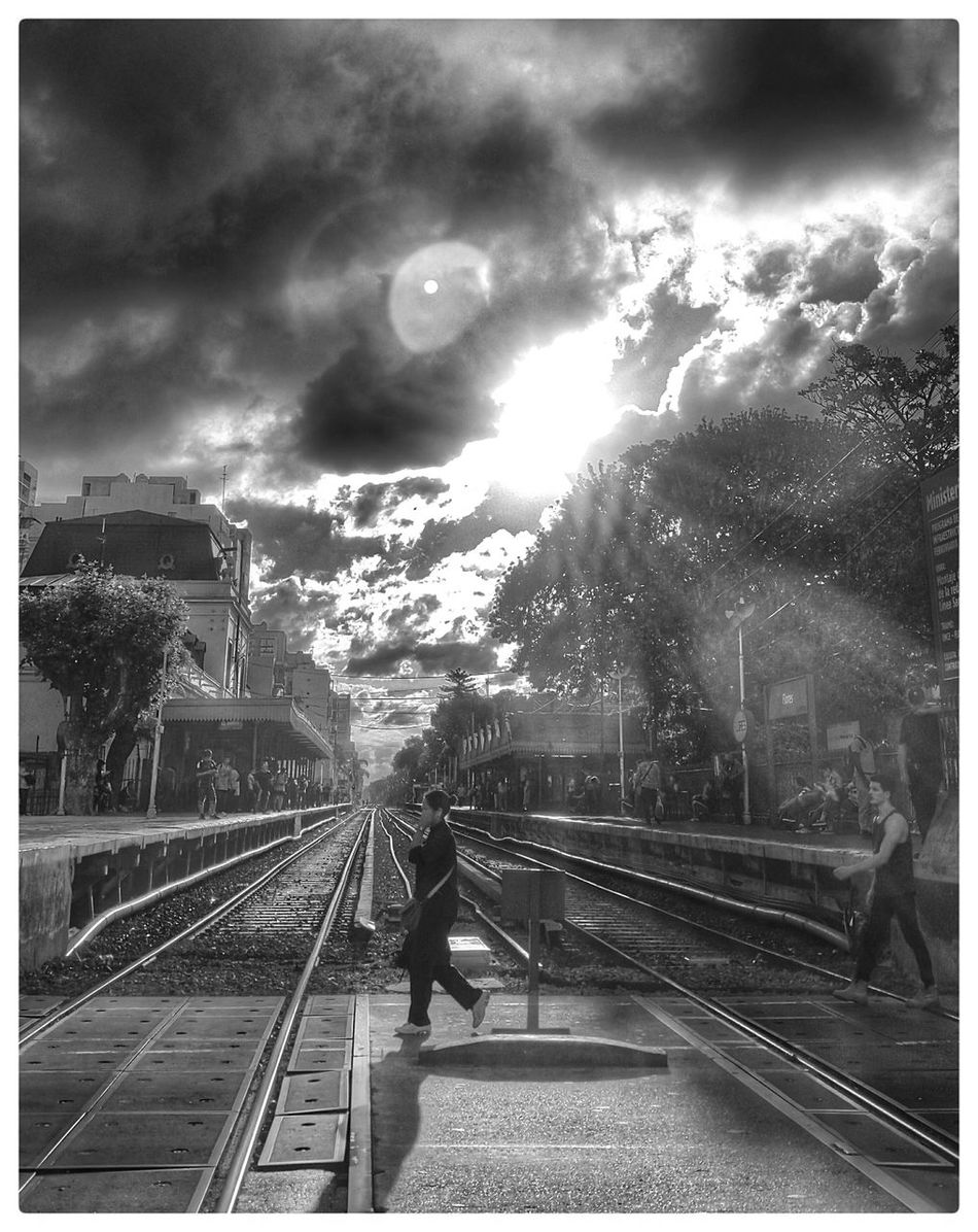 Railway Train Station Buenos Aires, Argentina  People Crossing Crossroads Blackandwhite EyeEm Buenos Aires
