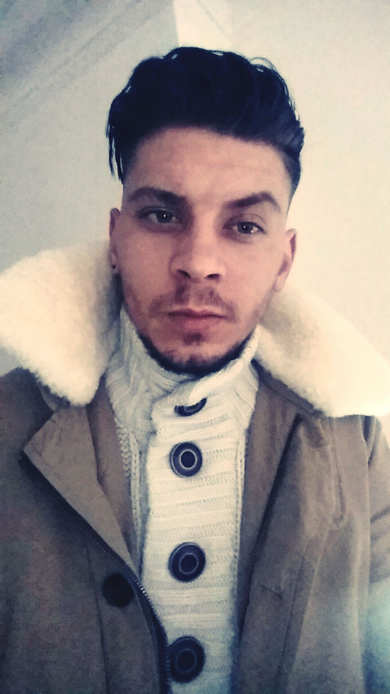CuzWinter Snapchat Selfie ✌ Cold Winter ❄⛄ Portrait One Man Only Warm Clothing That's Me✌️