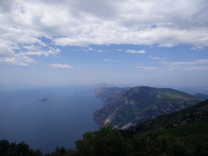 Cloud - Sky No People Sea Outdoors Nature Sky Tree Water City Day Hiking Hiking Trail Mountains And Hills Mountain And Sea Landscape Positano, Italy Pathofgods Amalfi Coast Tre Calli