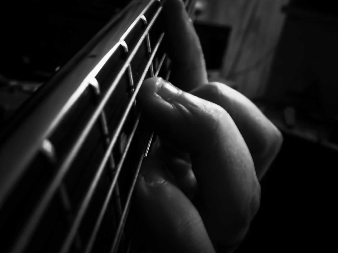 till my fingers bleed Adult Adults Only Arts Culture And Entertainment Close-up Day Fretboard Guitar Human Body Part Human Hand Indoors  Music Musical Instrument Musical Instrument String One Person People Playing Playing By Heart Real People TakeoverMusic