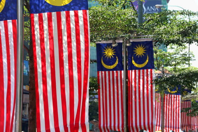ASIA Flag Flags Identity Johor Bahru Malaysia Malaysia Truly Asia Malaysian Flag Moon National Flag Pattern Pattern, Texture, Shape And Form Red Star Stripes Pattern Symbols Truly Asia Vibrant Color