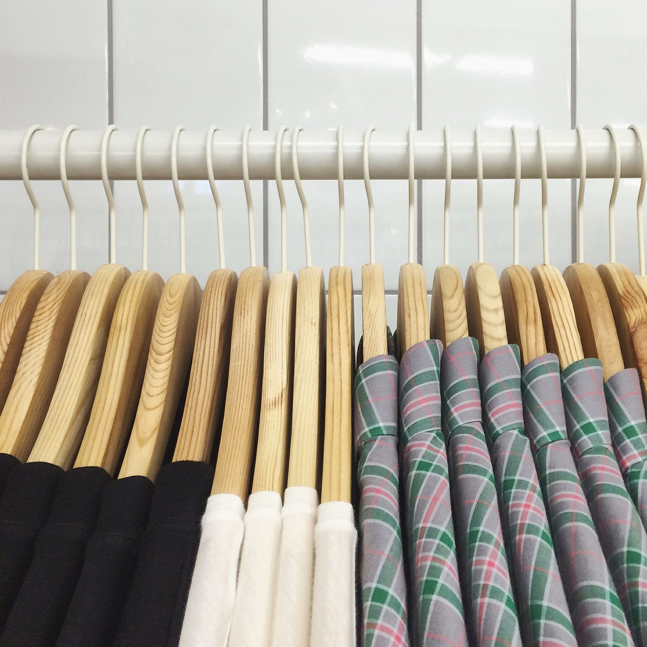 Beautiful stock photos of shopping, Close-Up, Clothing, Coathanger, Group Of Objects