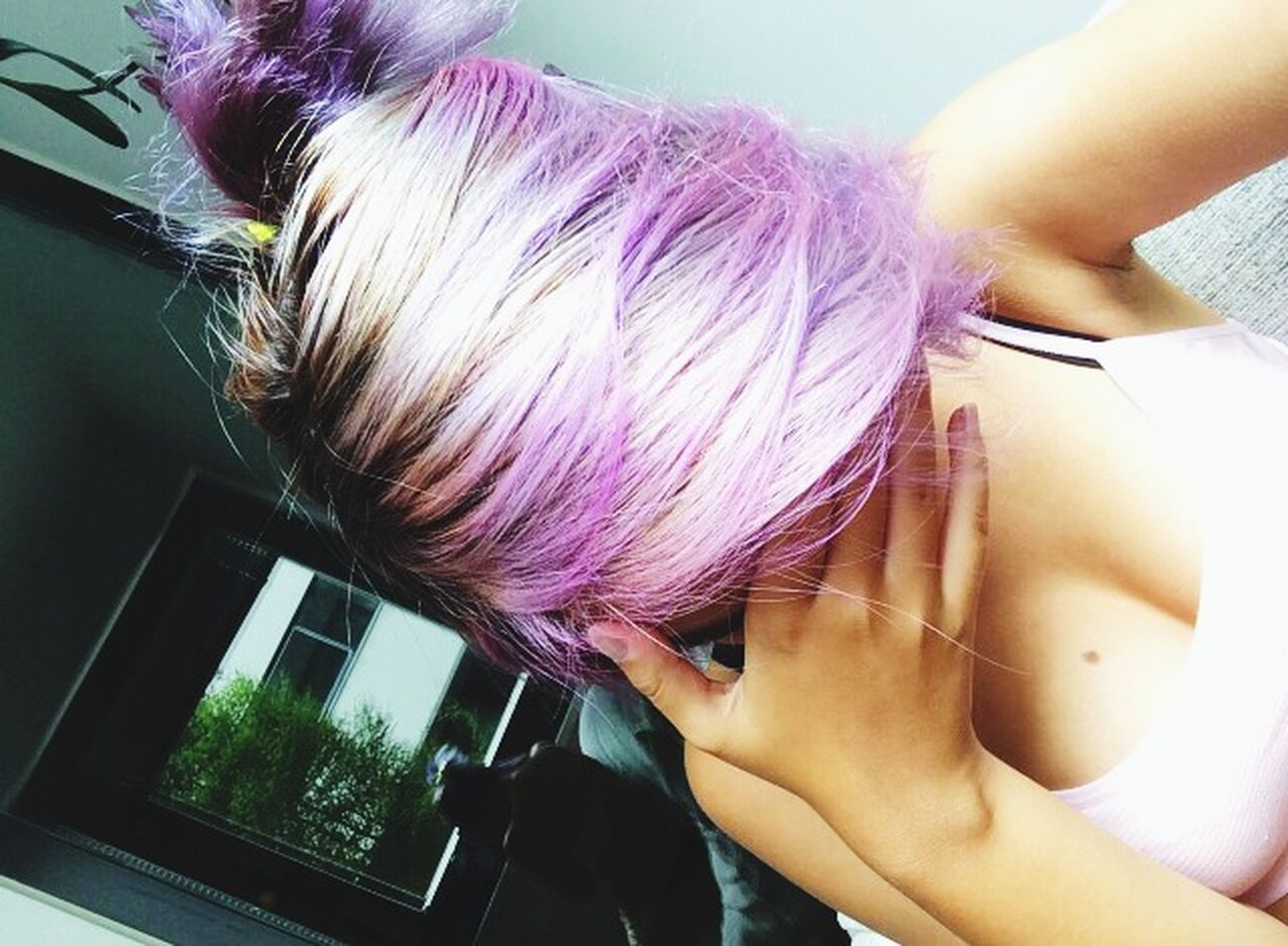 Miss this haircolor ?? Purple Hair Dont Care Pink Hair ; Don't Careee.