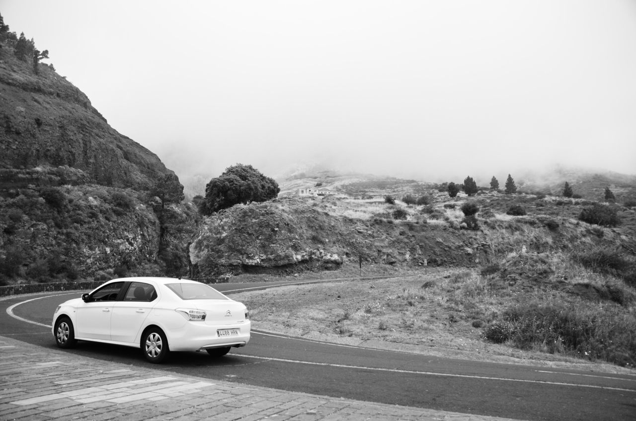 EyeEm Selects Blackandwhite Clouds Car Tranquil Scene No People Landscape Scenics Beauty In Nature Moments Holiday