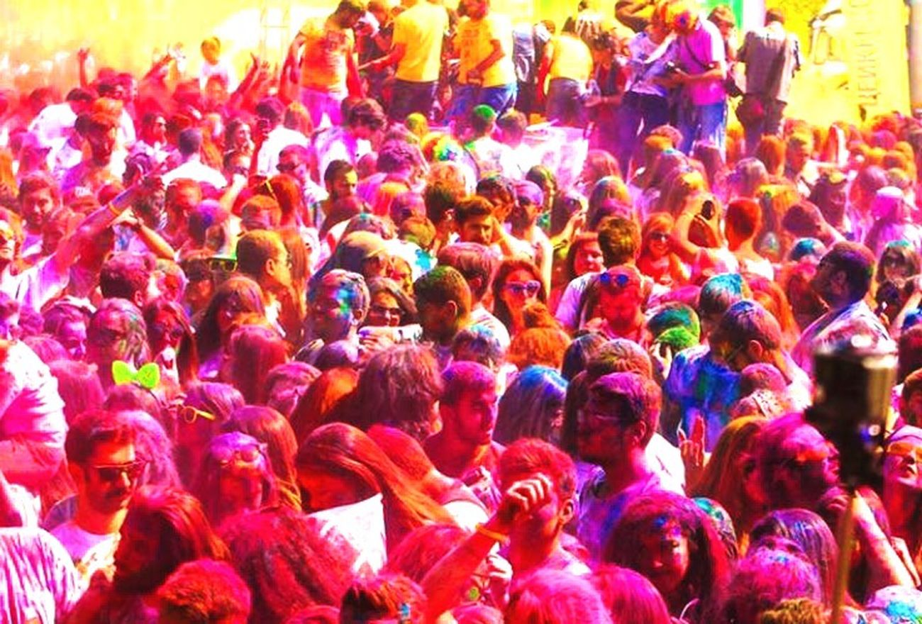 Large Group Of People Multi Colored Crowd Person Men Street Enjoyment Fun Celebration Arts Culture And Entertainment Colorful Celebration Event Festival Performance Event Outdoors Party - Social Event Multicolored City Life Music Festival