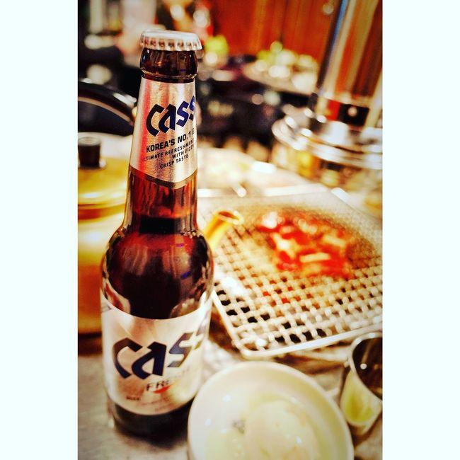 壹陸年。貳月貳拾參,釜山火爐 @ 酒家男開工後的第一場應酬,帶韓國客人吃韓國烤肉喝韓國啤酒中.... Shanghai, China CASS BEER Traveling Ricoh GRII